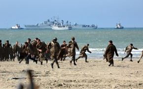 Picture soldier, sea, war, sand, uniform, seifuku, suna, Dunkirk