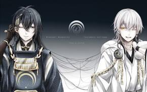 Picture anime, art, guys, Touken ranbu, Dance Of Swords