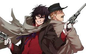 Picture gun, weapon, anime, man, american, asian, revolver, japanese, drifter, Drifters