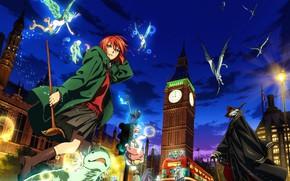 Picture kawaii, sake, red, sky, red hair, anime, cloud, redhead, dragon, asian, cute, manga, oriental, asiatic, …