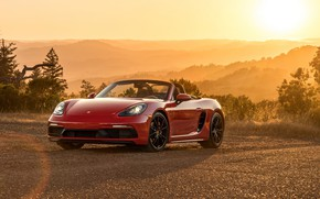 Picture sunset, Porsche, Boxster, GTS, 718, 2019