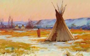 Picture Joseph Henry Sharp, Encampment, on the Yellowstone