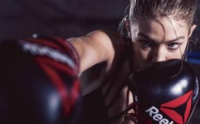 Wallpaper Reebok, model, Gigi Hadid, gloves, boxe