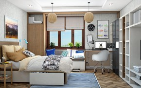 Picture interior, living room, the teen room