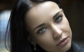 Picture girl, long hair, photo, blue eyes, model, beauty, lips, face, brunette, black hair, portrait, mouth, …