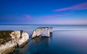Picture sea, rocks, England, Dorset
