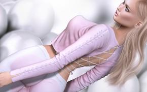 Wallpaper blonde, style, girl, figure