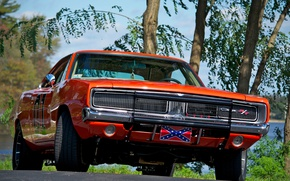 Wallpaper Charger, Orange, The Dukes of Hazzard, Muscle car, General Lee, 1969, Dodge