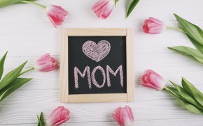 Picture flowers, tulips, love, pink, fresh, pink, flowers, tulips, spring, tender, mom, mother's Day
