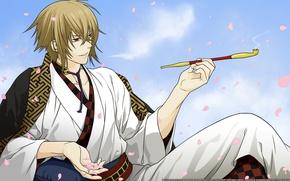 Picture tube, anime, the demon, art, guy, Hakuouki, Demons Sakura, Kazama Chikage