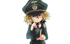 Picture girl, soldier, military, war, anime, chibi, blue eyes, cap, blonde, asian, hand, manga, fingers, oriental, …