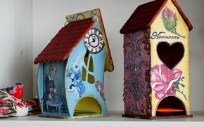 Picture figure, house, Alice in Wonderland, creativity
