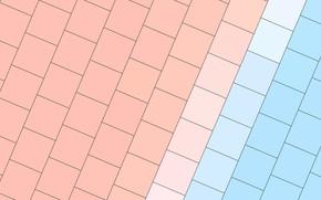 Picture line, blue, texture, squares, beige, material