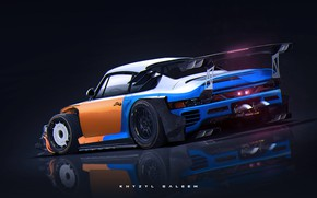 Picture design, reflection, car, back, Killer 959