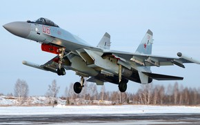 Wallpaper Sukhoi, Su-35S, the generation 4++fighter, Russian multipurpose highly maneuverable, Serial fighter for the Russian space ...