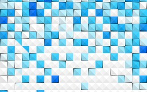 Picture abstraction, squares, Abstract, blue, background, paper
