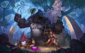 Picture forest, art, fantasy, Treasure hunters, angelica alieva, ADVENTURE TEAM