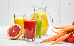 Picture juice, citrus, drink, fruit, vegetables, carrots