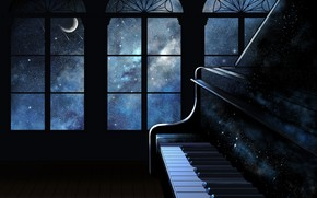 Wallpaper interior, space, piano