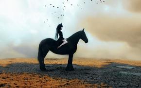Picture girl, horse, Kindra Nikole, naezdnica