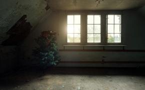 Wallpaper room, holiday, window, tree