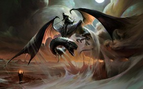 Picture Mordor, fan art, Nazgul, J.R.R. Tolkien, The winged creature