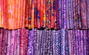 Picture towel, Germany, Bayern, Furth, the fabric market