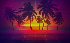 Picture Music, Palm trees, Electronic, Synthpop, Darkwave, Synth, Retrowave, Synth-pop, Synthwave, Synth pop