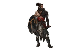 Picture weapons, body, hammer, warrior, shield