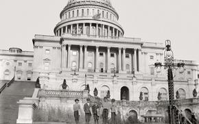 Picture retro, Washington, USA, Capitol, Congress, 1912-the year