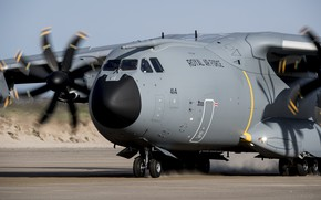 Wallpaper cargo and transport aircraft, Airbus A400M, 0055, military, aircraft, air force