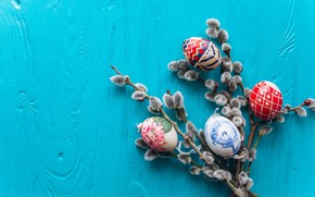Picture background, eggs, spring, Easter, Holiday, Verba, twigs