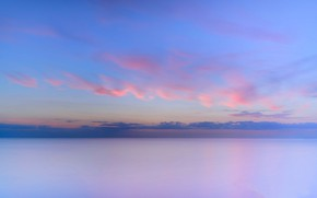 Picture sea, clouds, horizon, Netherlands, Goeree-Overflakkee