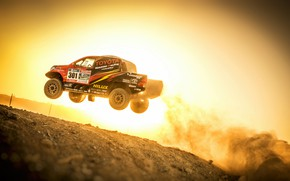 Picture Sunset, Auto, Sport, Machine, Speed, Race, Toyota, Hilux, Rally, SUV, Rally, Sport, Toyota, Hilux, The ...