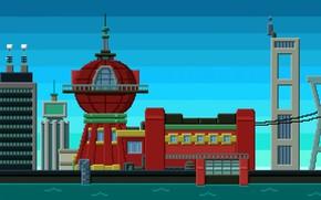Picture Futurama, Futurama, Art, Pixels, Office, PXL
