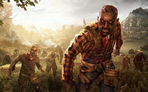 Picture zombie, blood, game, undead, biohazard, Dying Light, Dying Light The Following, Dying Light: The Following