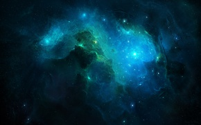 Picture space, the universe, the unknown, abyss, art, infinity star field, Cosmicspark