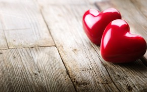 Picture love, romance, heart, pair, hearts, love, lovers, heart, wood, romantic, Valentines