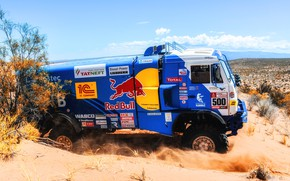 Picture Sport, Truck, Race, Master, Russia, 500, Kamaz, Rally, Dakar, KAMAZ-master, Dakar, Rally, KAMAZ, The roads, ...