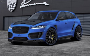 Wallpaper Lumma Design, Blue, Jaguar, Tuning, F-Pace