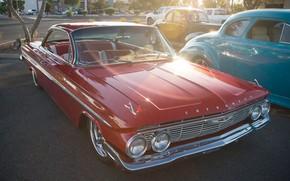 Picture retro, classic, Chevy, Impala, 1961