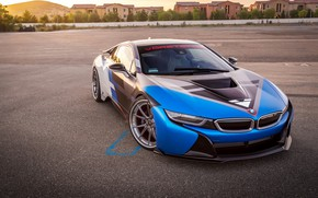 Picture car, bmw, white, blue