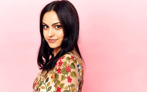 Picture background, portrait, makeup, actress, brunette, hairstyle, beauty, Camila Mendes, Camila Mendes