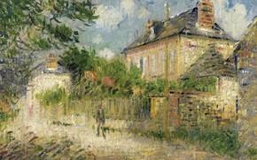 Picture landscape, house, picture, Gustave Loiseau, Gustave Loiseau, The House of Monsieur Compon at Vaudreuil