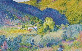 Picture picture, Henri Edmond Cross, pointillism, Henri Cross, Landscape with Mountains