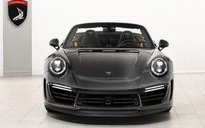 Picture 911, Porsche, GTR, front view, Turbo, 2018, Cabriolet, Ball Wed, Carbon Edition, Stinger
