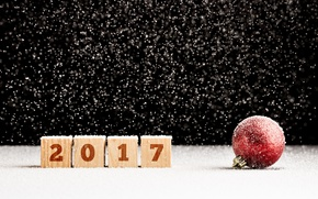 Wallpaper bokeh, 2017, ball, ball, new year, ball, happy, snow, snow, New Year