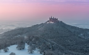 Picture Winter, Castle, Hohenzollern Castle
