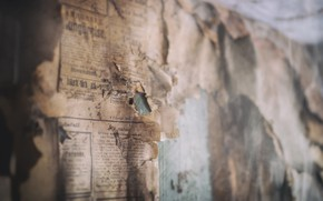 Picture background, wall, Newspapers