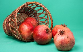 Picture background, basket, fruit, garnet